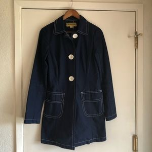 Libertine Trench Coat in Navy Blue Size M